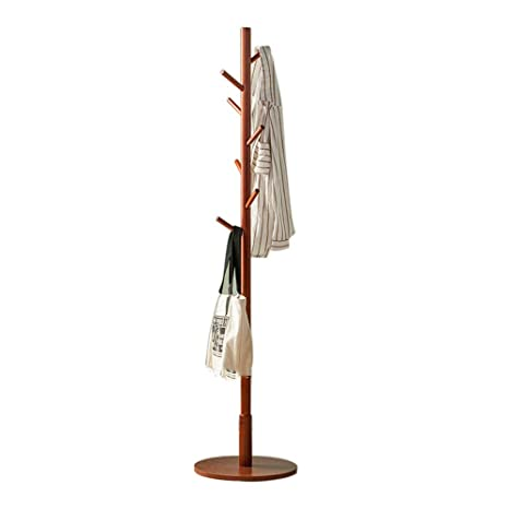Amazon.com: LiChenYao - Perchero de madera maciza para el ...