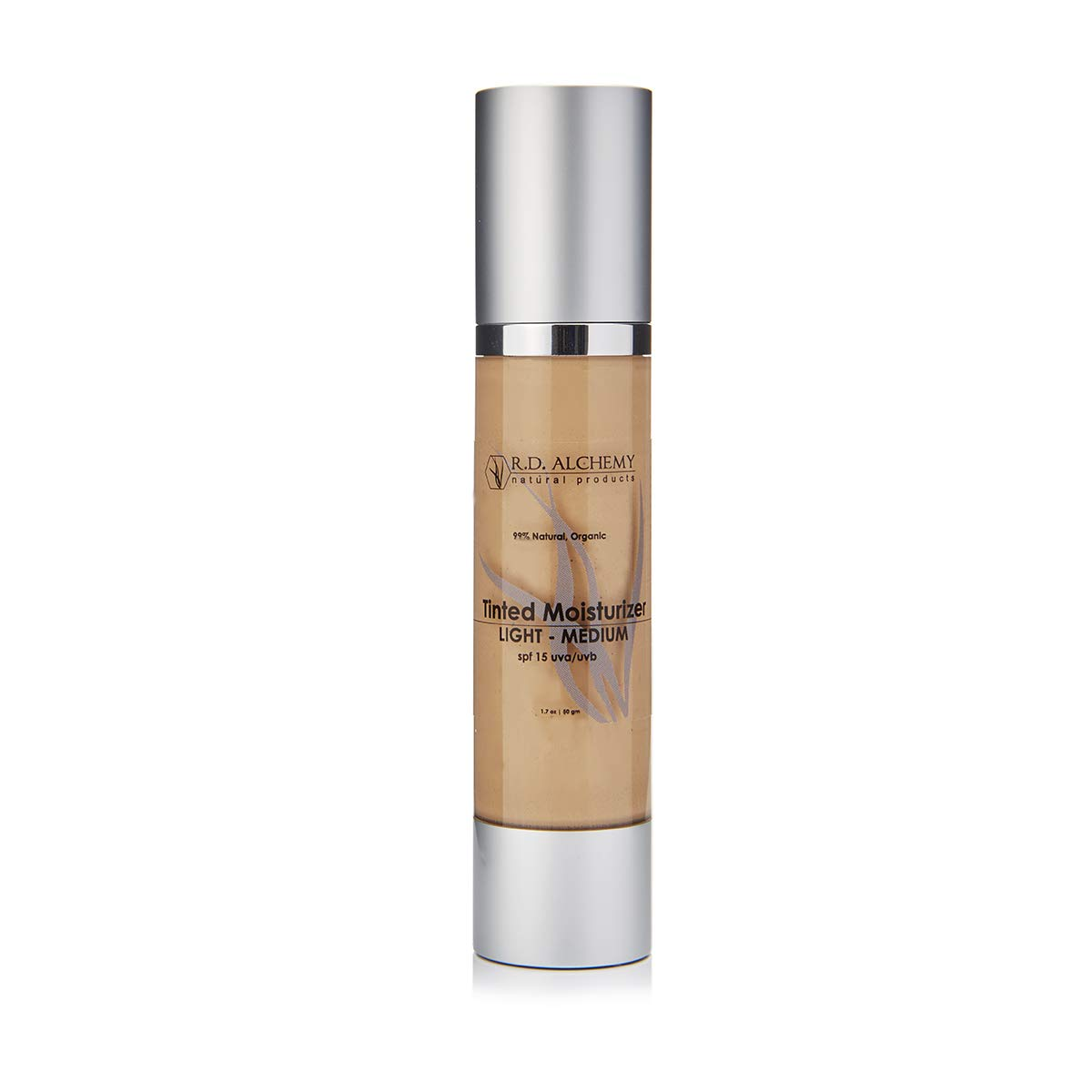 99% Natural & Organic Tinted Moisturizer with SPF. Best BB and CC cream for Normal to Dry Skin needing Light Coverage, Reduced Pore Size, and Less Acne Breakouts. LIGHT-MEDIUM Shade