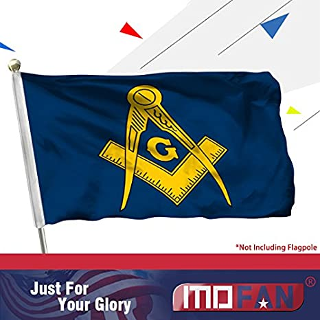 "12x18 12/""x18/"" Freemason Mason Masonic Lodge Blue Gold Silk Nylon-Polyester Flag"