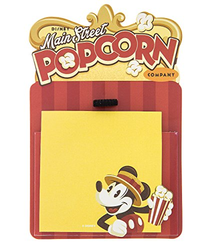 Disney Parks Mickey Mouse Main Street Popcorn Factory Magnetic Note Holder by Disney