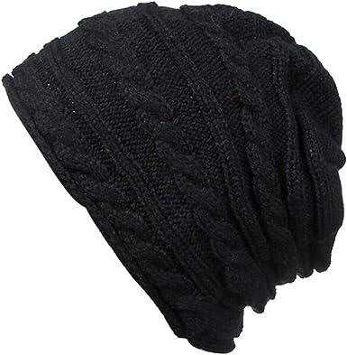 Saitingdianzi Warm Winter Fall Unisex Women Fashion Soild Knitted Beanie Cap Hat