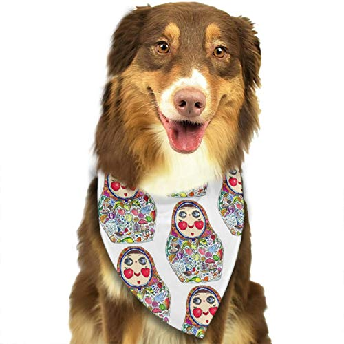 OURFASHION Cheeks Like Apples Matryoshka Doll Bandana Triangle Bibs Scarfs Accessories for Pet Cats and Puppies