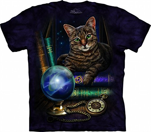 Cat, Crystal Ball, Timepiece Fortune Teller Lisa Parker T-Shirt