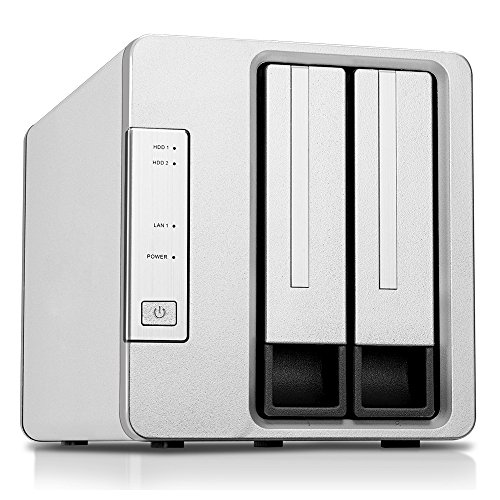 TerraMaster F2-220 2-bay NAS Drive Intel Dual Core 2.41GHz 2GB RAM PLEX DLNA Media Server Personal Cloud Storage (Diskless) by TerraMaster