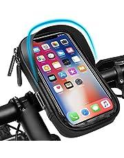 Pezimu Fietsstuurtas | telefoonhouder voor fiets en motorfiets | waterdichte telefoonhouder stuurtas houder | 360° draaibare frametas fietstas voor 6,5 inch mobiele telefoons