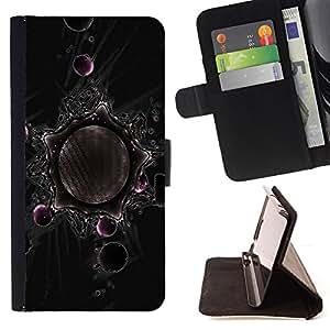 BullDog Case - FOR/Samsung Galaxy S3 Mini I8190Samsung Galaxy S3 Mini I8190 / - / Abstract Planets Geometry Art /- Monedero de cuero de la PU Llevar cubierta de la caja con el ID Credit Card Slots Flip funda de cuer