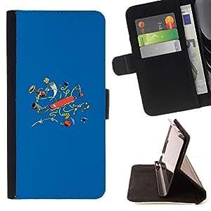 Momo Phone Case / Flip Funda de Cuero Case Cover - Navaja suiza;;;;;;;; - HTC One M9