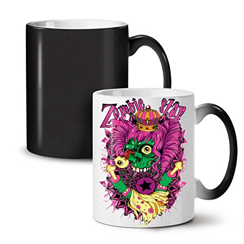 [Zombie Queen Star Eye Royal Dead Black Colour Changing Tea Coffee Ceramic Mug 11 oz | Wellcoda] (Pop Star Fancy Dress Costumes Ideas)
