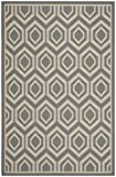 Safavieh Courtyard Collection CY6902-246 Anthracite and Beige Indoor/Outdoor Area Rug (4′ x 5'7″)