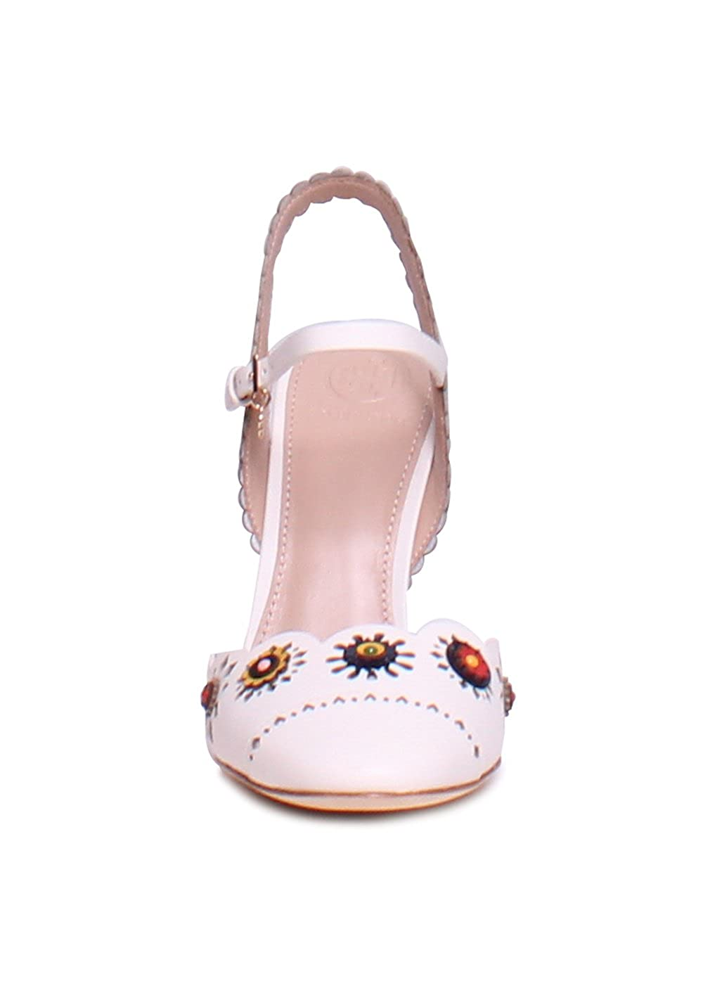 495e5d9e127 Tory Burch Marguerite Perforated Leather Sandals