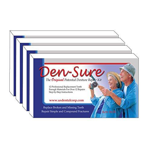 Den-Sure Repair Kit with Teeth 4-PACK Special