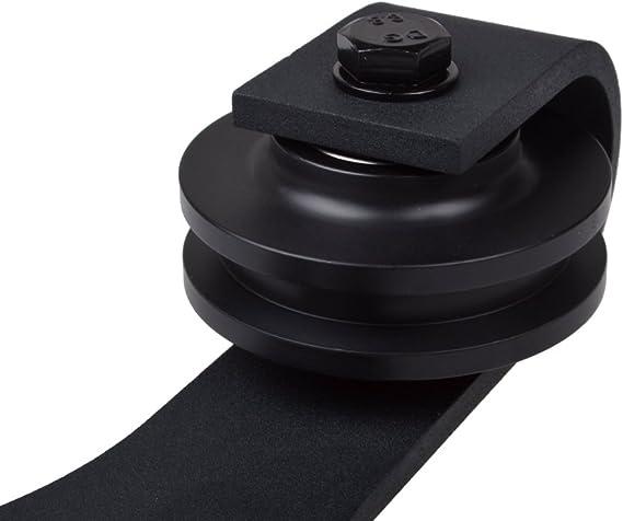 TMS tsq09-dark negro estilo americano país granero madera Hardware de la puerta deslizante pista Set: Amazon.es: Bricolaje y herramientas