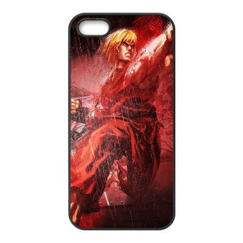 Street Fighter X Tekken Ken Character Fighter Rain 22203 coque iPhone 5 5s cellulaire cas coque de téléphone cas téléphone cellulaire noir couvercle EEECBCAAN04266