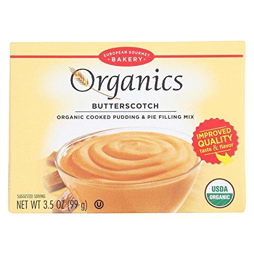 European Gourmet Bakery Organic Butterscotch Pudding Mix - Butterscotch - Case of 12-3.5 oz.
