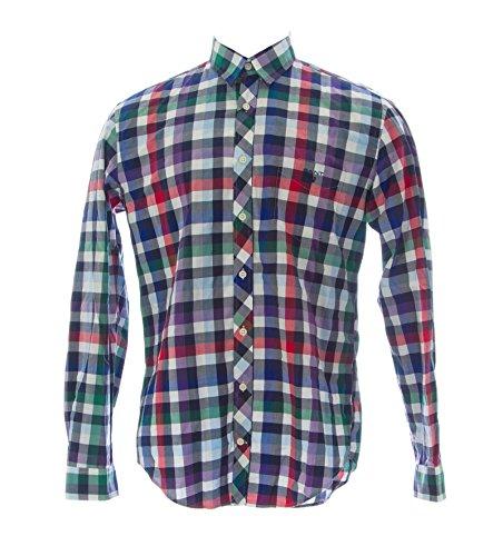 Gant Men's Burlington Twill Plaid Button-Up Shirt Large Multi-Color