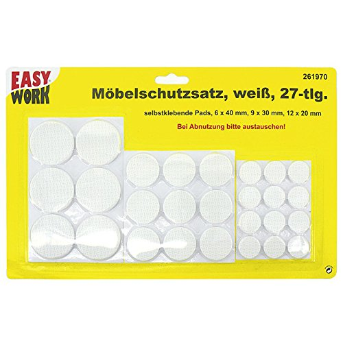 Easy Work Furniture Protectors Set 27-Piece 261970–Pack of 1