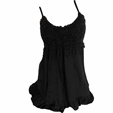 b9c1d95c2e6f6b Wugeshangmao Tank Tops for Women Plus Size Girls Summer Sexy Solid Loose  Tassels Cotton Dressy Vest