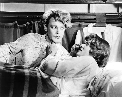 Some Like It Hot Featuring Tony Curtis, Jack Lemmon 8x10 Promotional Photograph on train in sleeper
