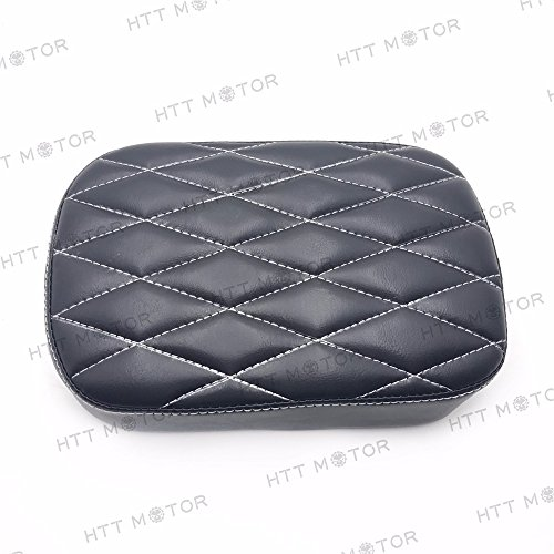 HTTMT MT500-012D- Pillion Pad Suction Seat 6 Cup Passenger Cushion Compatible with Harley Dyna Sportster 883 ()