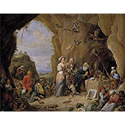 The High Quality Polyster Canvas Of Oil Painting 'Teniers David Tentaciones De San Antonio Abad (II) ' ,size: 12 X 15 Inch / 30 X 39 Cm ,this Imitations Art DecorativePrints On Canvas Is Fit For Study Decoration And Home Gallery Art And Gifts