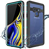 """XBK Samsung Note 9 Case, Waterproof Shockproof Snowproof Cover Case with Built-in Screen Protector, Full Body Protect Clear Case for Samsung Note 9 (6.4"""",2018)"""