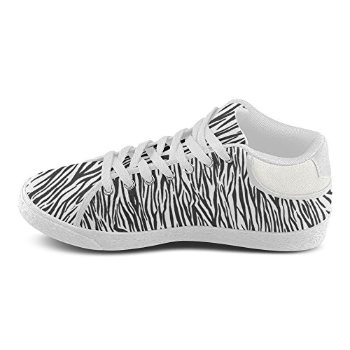 D-story Zebra Personalizzate Strisce Da Donna Scarpe Di Tela Chukka (modello 003)