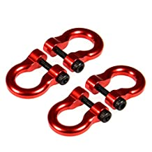 4 Pcs Aluminum Tow Shackle for 1/10 Scale TRX-4 Crawler Car Red