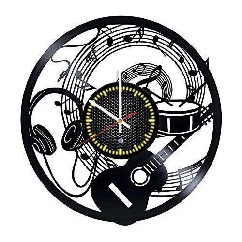 Music Vinyl Record Wall Clock - Gift idea for music fans
