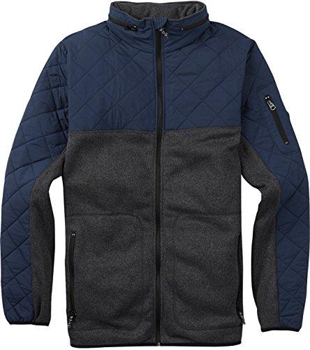 - Burton Men's Pierce Fleece Sweaters, Heather True Black/Mood Indigo, Large