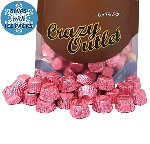 Reese's Miniatures Peanut Butter Cups, Pink Foils Milk Chocolate Candy, It's a Girl Candy, 2lbs ()