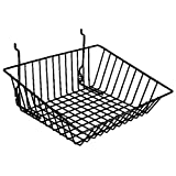 Sloping Basket Fits Slatwall Gridwall Pegboard 15''Wx12''Dx5''H Black Lot of 6 NEW