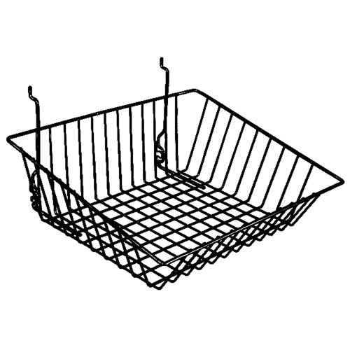 Sloping Basket Fits Slatwall Gridwall Pegboard 15''Wx12''Dx5''H Black Lot of 6 NEW by Only Garment Racks