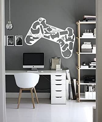Wall Decal Sticker Bedroom Controller Computer Video Game Play Fun Boys Teenager Room 350b