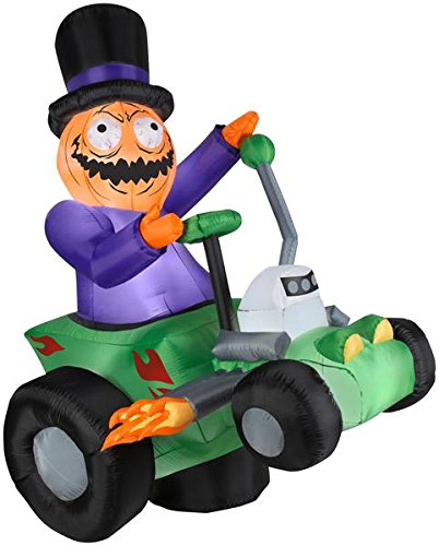 6' Airblown Jack's Ride with Pumpkin Man Halloween -