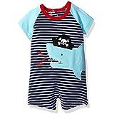 Mud Pie Baby Boys' Shortall One Piece, Pirate Shark, 0-3 Months