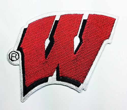 Wisconsin Badgers Patch Embroidered Iron on Hat Jacket Hoodie Backpack Ideal for Gift/ 8cm(w) X 6cm(h)