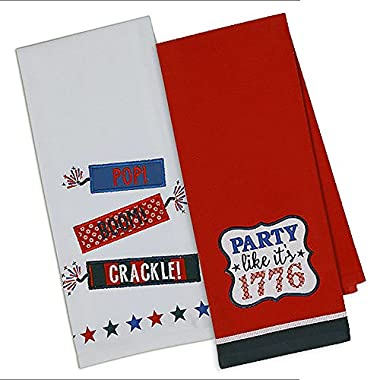 Party Like It's 1776 Independence Day Themed Towels - Set of 2