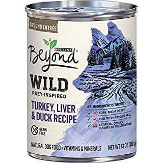 Purina Beyond High Protein, Grain Free, Natural Pate Wet Dog Food, WILD Turkey, Liver & Duck Recipe - (12) 13 oz. Cans