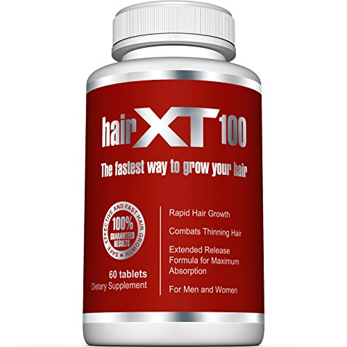 Premium Hair Vitamins For Hair Growth – HairXT100 Premium Hair Supplement Helps Grow, Thicken & Prevent Hair Loss – Includes Over 20 Essential Natural Hair Care Vitamins – 60 Tablets (Essentials 60 Tablets)