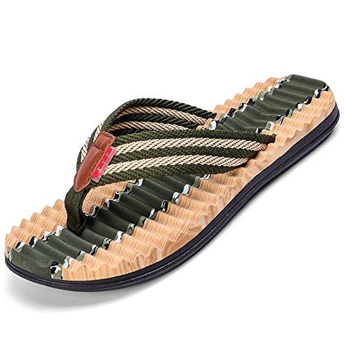 Zapatillas Summer soporte Zapatillas arco de Weigh Camo Sandalias hombre Light Verde con para New Chanclas TOCCOT Militar Beach ocasionales p6Hwaq