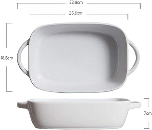 Plato de horno de cerámica rectangular para horno, plato de horno ...