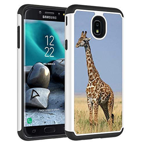 Galaxy J7 2018 Case,Galaxy J7 Refine Case,Galaxy J7 Star Case,Galaxy J7 Crown Case,Galaxy J7 V 2nd Gen Case,J7 Aura Case,VOSON Defender Cover Protective Phone Case for Samsung Galaxy J7V 2018(Giraffe) (Giraffe Phone Jack)