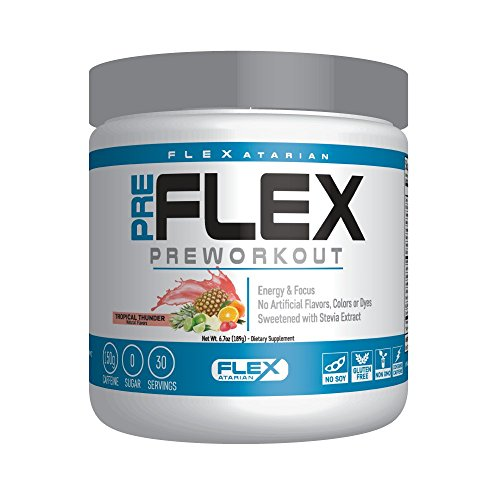 Flexatarian Pre-Flex, All-Natural Preworkout Formula, Tropical Thunder, 30 Servings by Flexatarian (Image #8)