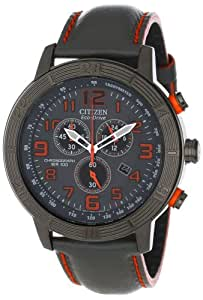 "Citizen Men's AT2227-08H ""Drive from Citizen Eco-Drive"" Stainless Steel Watch with Black Leather Band"