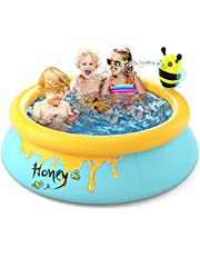 Inflatable Swimming Pools Kiddie Pools for Kids and Adults Durable Family Lounge Pools Summer Toy Outdoor Garden Waters Sports Game Pool for Toddlers Boys and Girls