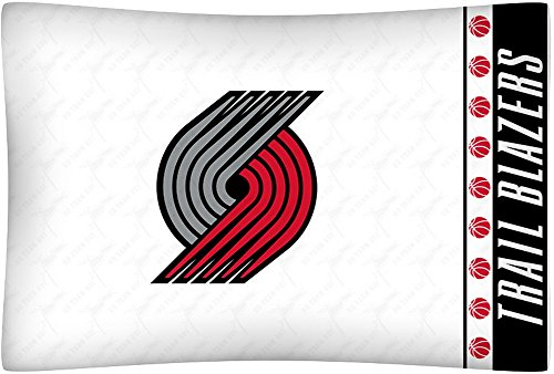 NBA Portland Trail Blazers Micro Fiber Pillow Cases, Standard, White
