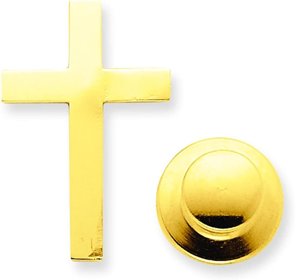FindingKing Gold Plated Oval Tie Tac