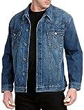 True Religion Big and Tall Jimmy Super T Western Denim Jacket (2XL, Denim)