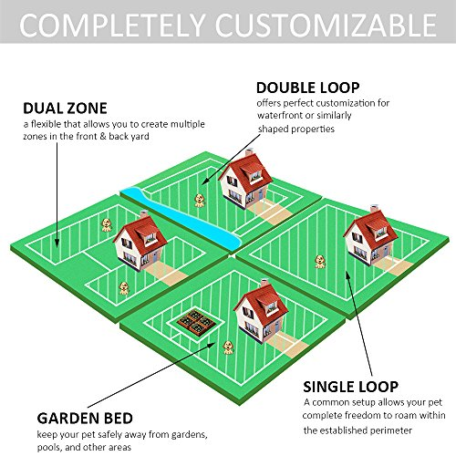 Wolfwill in ground invisible dog fence wire electric pet for Top rated underground dog fence
