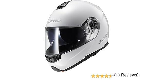 Amazon.es: Casco de la motocicleta LS2 FF370 Fácil Motocicleta front flip Racing Casco L Blanco